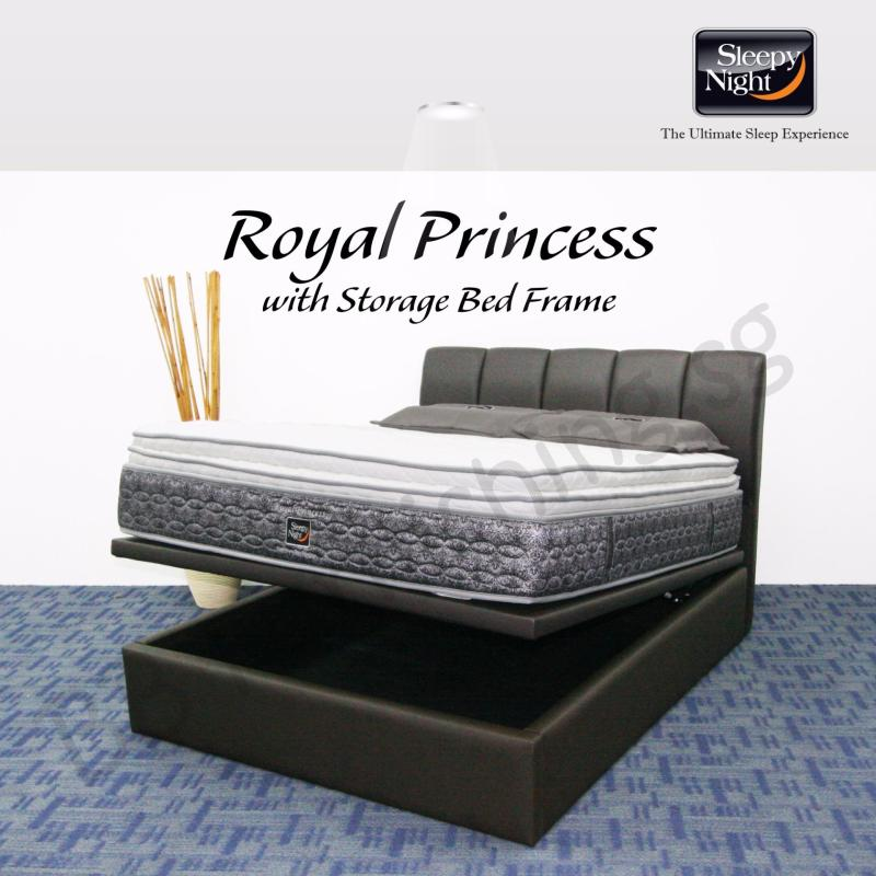 Sleepy Night (Super Single) Royal Princess Mattress with Jacinta Storage Bedframe