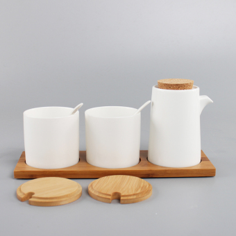 Soft wood salt sugar pepper oiler seasoning box seasoning cans