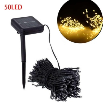 Solar Powered 50 LED String Fairy Light Waterproof Outdoor Garden Wedding Party - intl