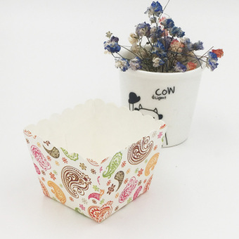 Harga Square style cake paper cups muffin cup