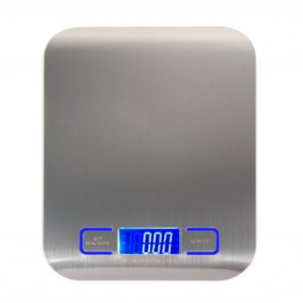 Harga Stainless Steel Kitchen Electronic Scale(Silver) (EXPORT)