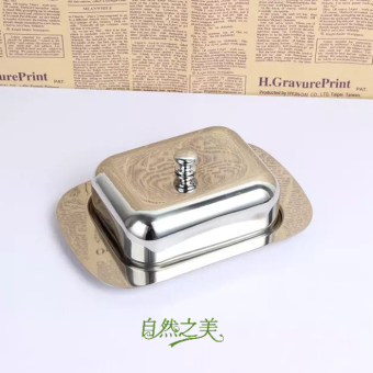 Stainless steel small calf oil dish butter box