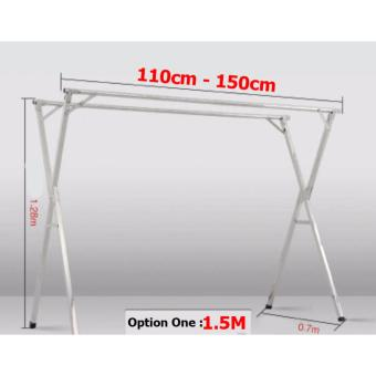 Stainless steel X-type extendable clothes drying rack (1.5M, 2M, Three Rods)