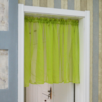 Harga Stitching glass yarn multi-color pleated curtain door curtain