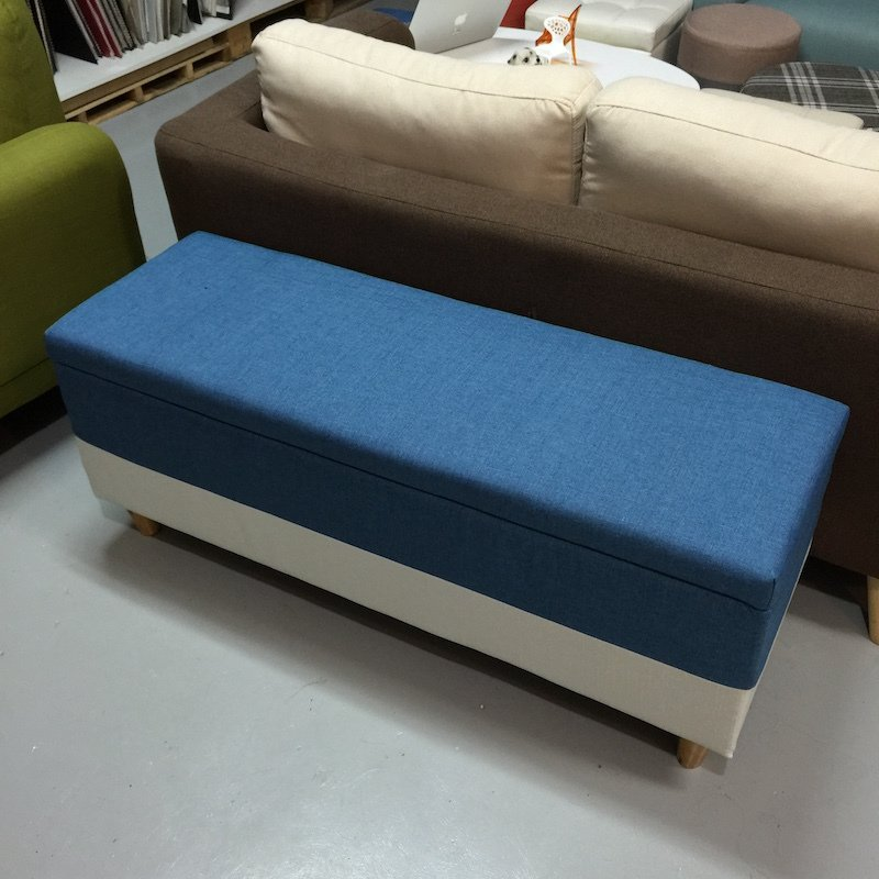 Storage Ottoman Type A Extra-Large (Blue)
