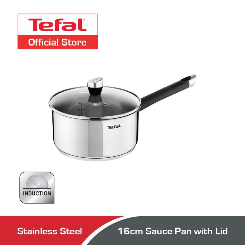 Tefal Emotion Stainless Steel Sauce Pan w/Lid 16cm E82322 Singapore