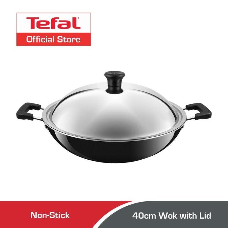 Tefal Non-stick Wok w/Lid 40cm C52897 Singapore