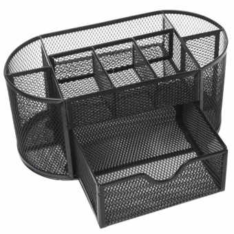 Harga Tidy Mesh Desk Organiser Set Office Tidy Organizer(Black) - intl