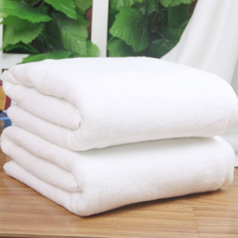 To increase wide hotel bath towel white towel