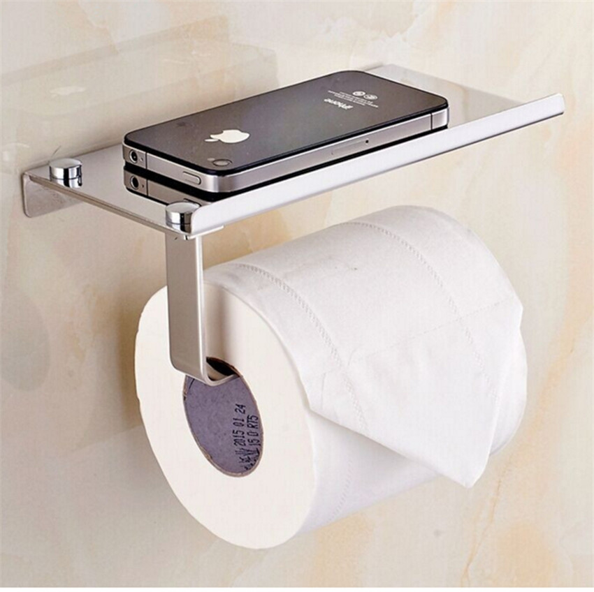 Paper Holder For Wall toilet paper holder wall mounted with phone holder steel | lazada