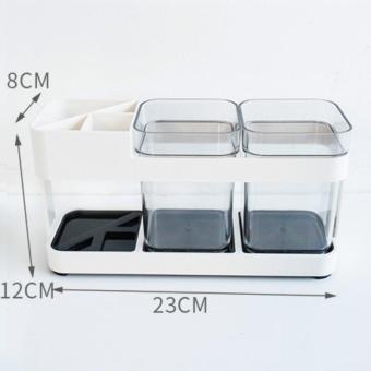Toothbrush and gargle cup holder, Bathroom wash supplies, Toothbrush rack - intl - 5