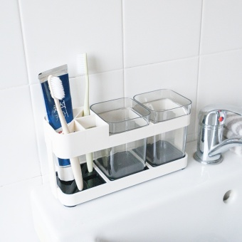 Toothbrush and gargle cup holder, Bathroom wash supplies, Toothbrush rack - intl - 2