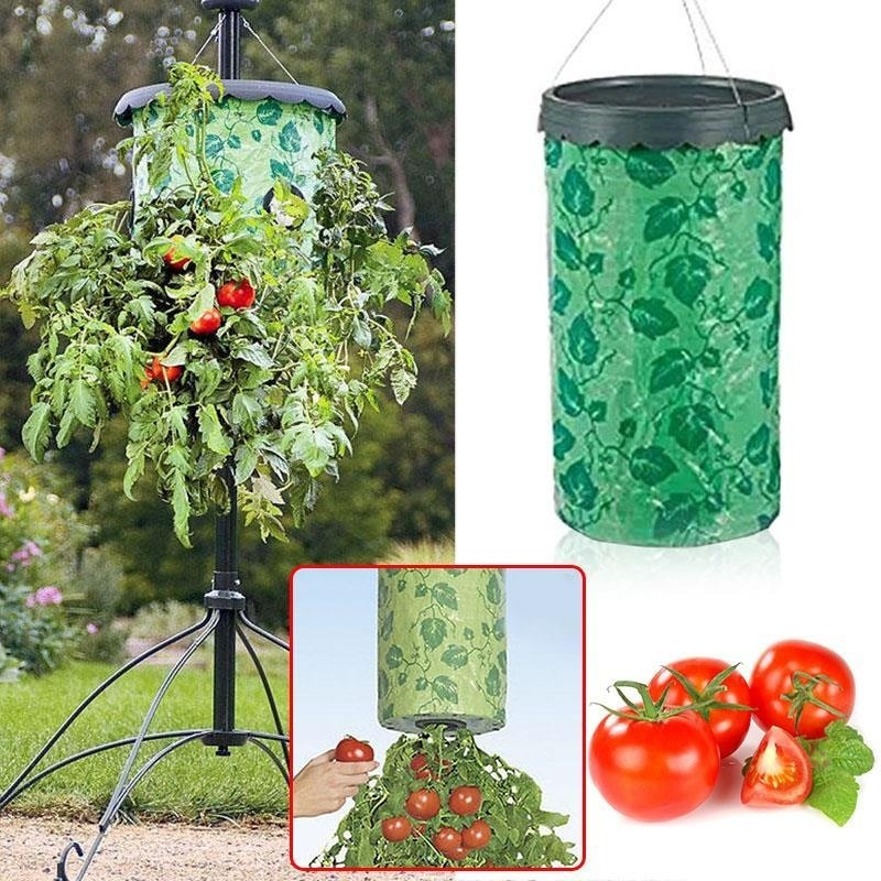 Topsy Turvy Upside-Down Tomato Planter Patio Garden Grow Veg Bag Pouch - intl