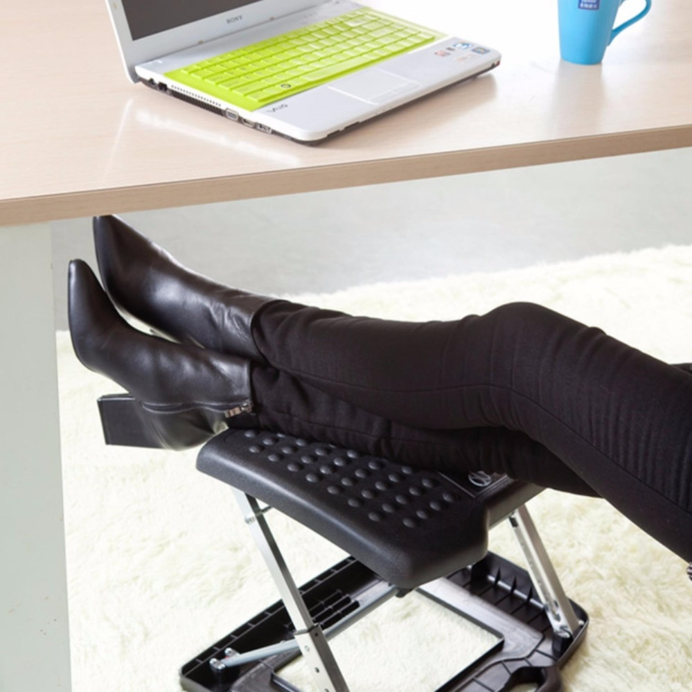 a itm for adjustable office desk footrest support dis stool chair workplace ergonomic foot rest