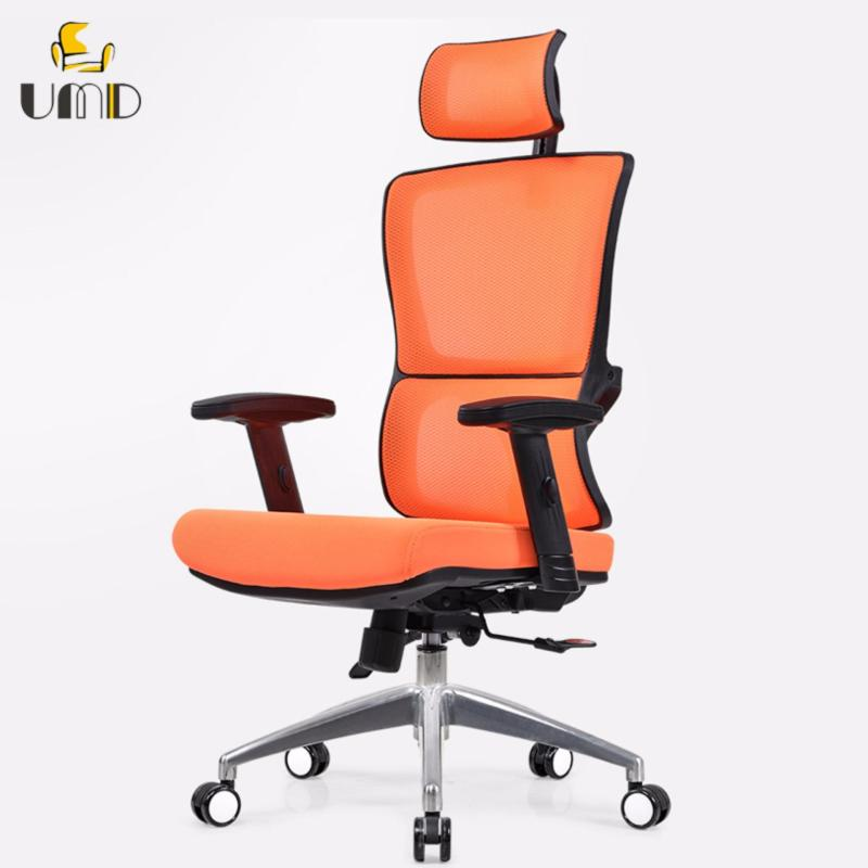 UMD Ergonomic High-Back Mesh Office Chair Q52 black frame (orange) Singapore