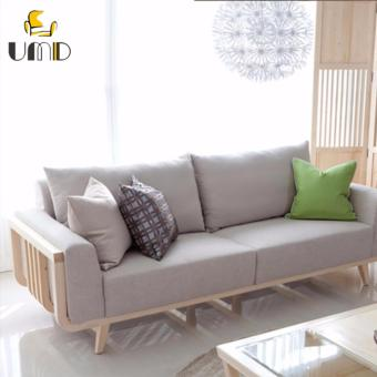 UMD Korean Style Designer Sofa ( 3 Seater Light Grey color)