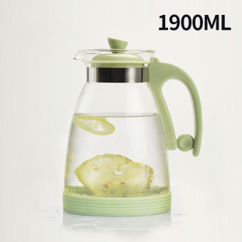 Water of the story-resistant high temperature glass of cold waterbottle home cool water pot heat-resistant water pot teapot suit barpot