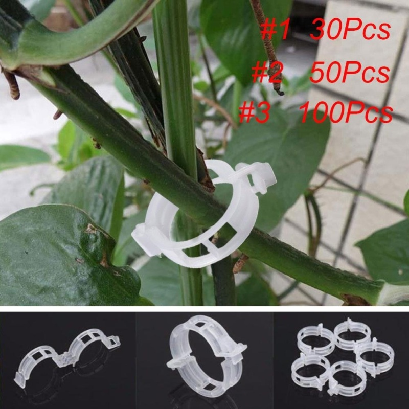 White Tomato Clips Connects Plants Supports Vines Trellis Cages Fixed - intl