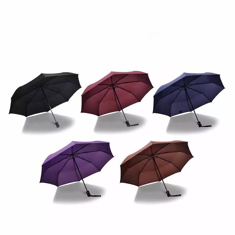 Wind Resistant Folding Automatic Umbrella Male Female Auto Luxury Big Windproof Umbrellas Rain For Mem Women Black Coating Blue - intl