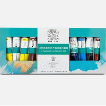 Winsor and Newton 12 Acrylic Paints fine painting - 3