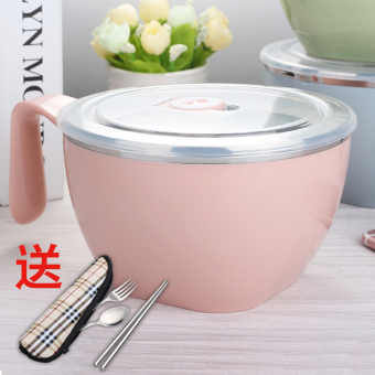 With lid large capacity Student Dormitory container instant noodle bowl