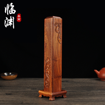 Wooden home tea incense aromatherapy line incense box mahoganyvertical Incense Burner
