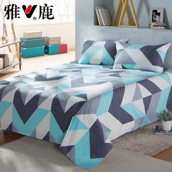 Yaloo textile cotton sheets single piece Cotton Double sheets 1.2/1.5/1.8m M bed single Student Dormitory - 2
