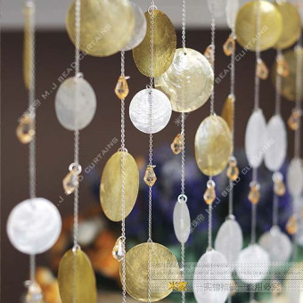 Harga Yellow shell bead curtain