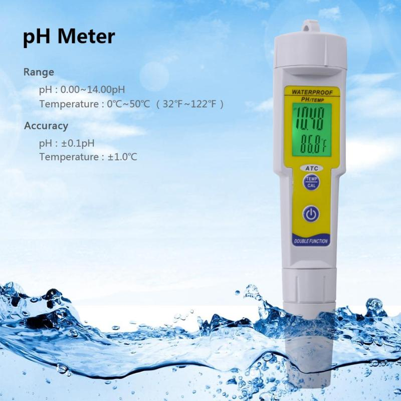 yieryi High Precision Mini Pen Type Drinking Water Quality Analysis Device PH Meter Automatic Correction Waterproof Acidity meter - intl
