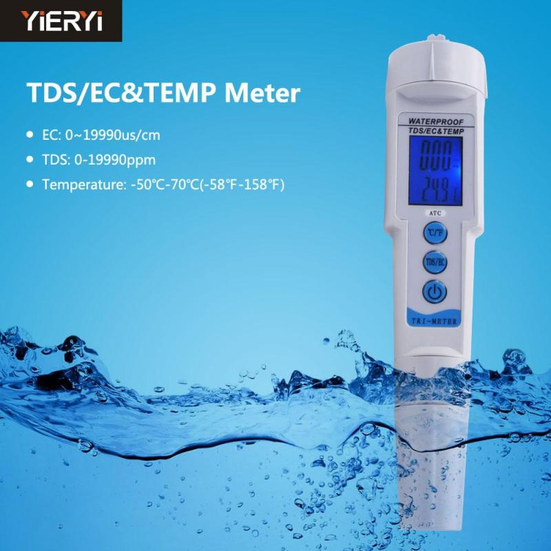 yieryi High Quality EC Meter Digital Water TDS Meter Filter Automatic calibration Tester for Measuring Water Quality Purity - intl