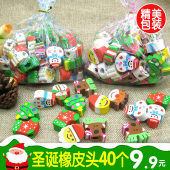Zh Christmas young student's pencil eraser rubber eraser