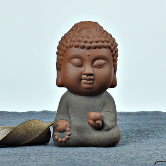 Zhoeng tea pet ornaments tea accessories Zen fun-Buddha road sixdegrees play purple tea pet home sand tea