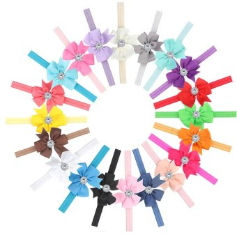 10Pcs Newborn Baby Girl Headband Infant Toddler Bow Hair Band GirlsAccessories