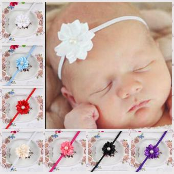 12pcs Girls Baby Children Satin Headband Hair Bow Band Accessories- intl