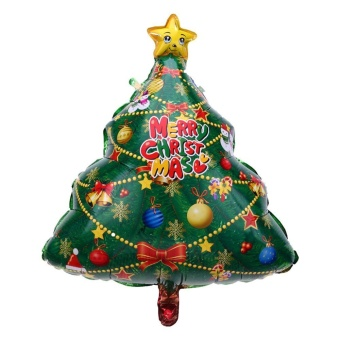 1pc Christmas Decor Balloons Birthday Party Decor(Green)-Christmas Tree - intl