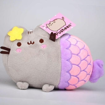 20cm Cute Pusheen Cat Mermaid Plush Soft Stuffed Toys (Blue) - intl