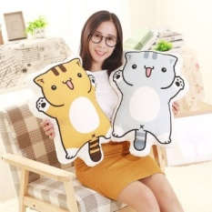 50*40cm Cute Cat Plush Toys The cat back Cloth Doll Soft Pillow Cushion Wholesale