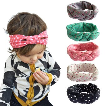 5PC Elastic Headband Head Wrap Knotted Hair Band For Baby Girl -intl