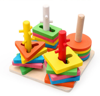 Amango Montessori topping-on game wooden toy