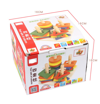 Amango Montessori topping-on game wooden toy - 2