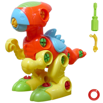 Assembled screw combination of small girl puzzle removable toy