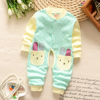 Autumn and Winter cotton newborn crawling clothes baby coveralls