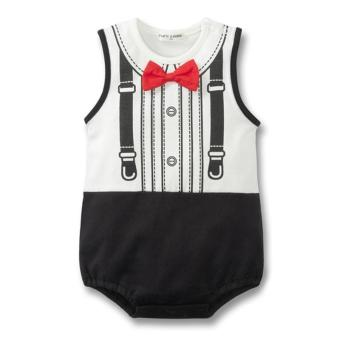 Baby Boy Sleevless Bodysuit with Bow-tie