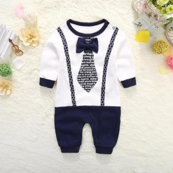 Baby leotard male baby newborn children clothes cotton romper spring 1-year-old spring and autumn summer 0-3 a month climbing clothes