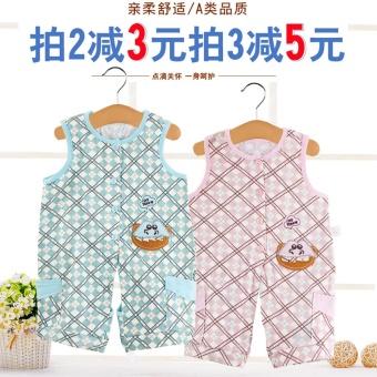 Baby newborn child thin section cotton short-sleeved romper - 2