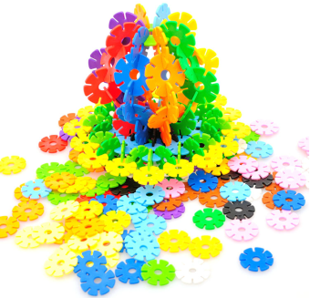 Baby plastic fight inserted assembled men building blocks snowflake piece