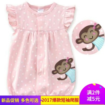 Baby summer short crawling clothes onesie - 2
