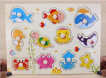 Baby wooden early childhood intelligence jigsaw puzzle dimensional jigsaw puzzle
