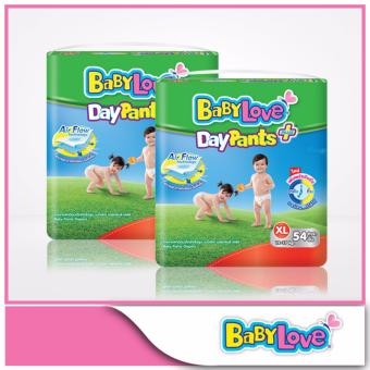 Harga Babylove Daypants Plus Mega Pack XL 54pcs x 2 packs