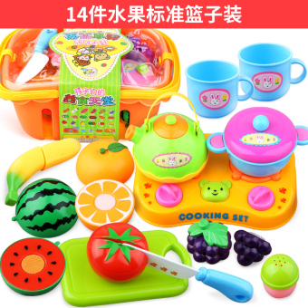 Bain Shi children's Fruit and Vegetables honestly music girl3-6-Year-Old over every family kitchen simulation to cook baby toys